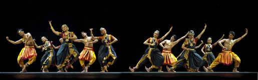 Indian folk dance performed by Kalakshetra dance institute of In Stock Photos