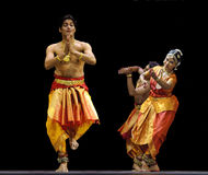 Indian folk dancer Royalty Free Stock Images
