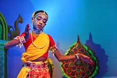 An Indian folk dancer Stock Photography