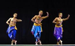 Indian folk dancers Royalty Free Stock Images