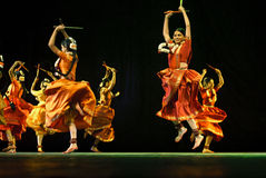 Indian folk dancers Royalty Free Stock Photos