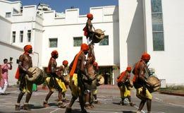 Indian Folk dancers dance Royalty Free Stock Photo