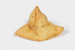Indian Food. Indian delicious samosa's on White stock images