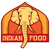 Indian food. Sign,  label Stock Image