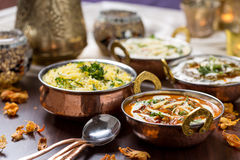 Indian food. In brass bowl Royalty Free Stock Image