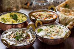Indian food. In brass bowl Stock Photos