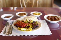 Indian food. East Indian cuisine at a restaurant Stock Photography