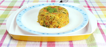 Indian Food Aval Upma Stock Photo