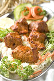 Indian food, Boti Kebab. Royalty Free Stock Photography