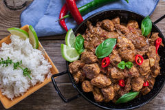 Indian food on bowl Royalty Free Stock Image