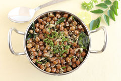 Indian Food Brown Chickpea Curry Royalty Free Stock Photography
