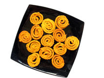Indian Food-Chakli. Chakli is an indian snack prepared from rice and butter Stock Photo
