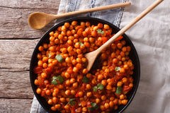 Indian Food Chana masala on a table close-up. Horizontal top vie Stock Photo