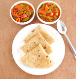 Indian Food Chapati Royalty Free Stock Image
