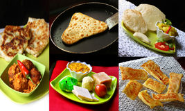 Indian food collage Stock Photo