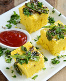 Indian Food Dhokla Royalty Free Stock Image