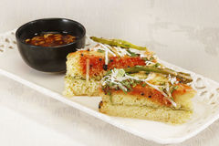 Indian Food Dhokla topped with sesame seeds Royalty Free Stock Photos