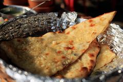 Indian food. Dish prepared at the Indian restaurant, state of Goa stock photos