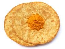 Indian Food-Khakra and Chutney royalty free stock photos