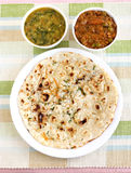 Indian food Kulcha Stock Photos