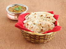 Indian food Kulcha Royalty Free Stock Photography
