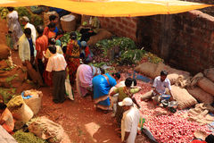 Indian Food Market in Goa Royalty Free Stock Photo