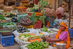 Indian Food Market Royalty Free Stock Images