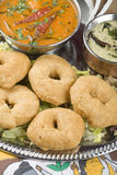 Indian food, Medhu Vada, Lentil fritters Stock Images
