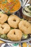 Indian food, Medhu Vada, Lentil fritters Stock Images