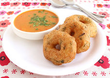 Indian Food Medu Vada. Also known as urad vada, a traditional and popular dish Royalty Free Stock Images
