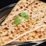 Indian Food, Naan Bread Stock Photo