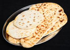 Indian Food, Naan and Roti Flatbreads Stock Images