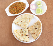 Indian food Naan, Roti and Kulcha Royalty Free Stock Image