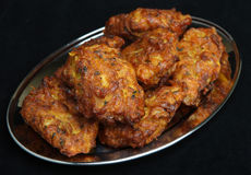 Indian Food, Onion Bhaji Royalty Free Stock Images