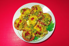 Indian Food Papri Chaat Stock Images