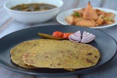 Indian food Paratha flatbread Indian cuisine Stock Images