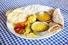 Indian food in restaurant Stock Photos