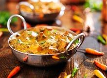 Indian food - saag paneer curry dish Royalty Free Stock Photos