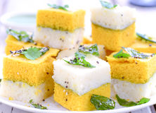 Indian Food-Sandwich Dhokla. Indian snack -Sandwich Dhokla,Gujarati snack and breakfast Royalty Free Stock Photography