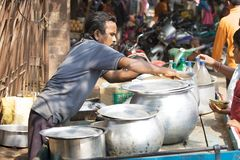 Indian food seller Stock Images