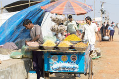 Indian food seller Royalty Free Stock Photos