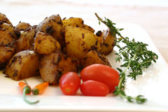 Indian Food Series - Spicy Potatoes Stock Images