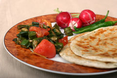 Indian Food Series - Vegetarian Meal Royalty Free Stock Photo