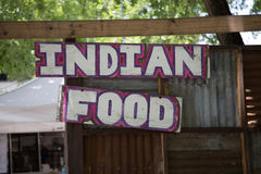 Indian Food Sign Royalty Free Stock Photo
