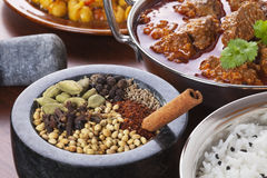Indian Food and Spices Royalty Free Stock Photography