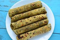 Indian Food-Thepla Stock Photos