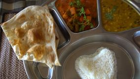 Indian Food. Top View stock video footage
