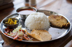 Indian food. Traditional Indian food in Goa Stock Images