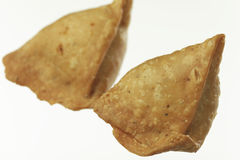Indian Food:traditional indian spicy crispy fried Punjabi Samosa. Royalty Free Stock Photo