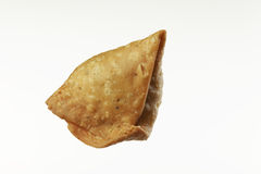 Indian Food:traditional indian spicy crispy fried Punjabi Samosa. Stock Photo